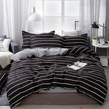Wongs Beddengoed Mode Beddengoed Set Thuis Textiel Klassieke Dekbedovertrek Bed Linnen Koningin King Size 3 Pcs Dropshipping(China)