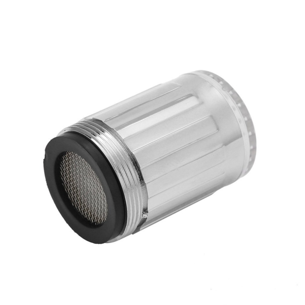 Купить с кэшбэком Creative Temperature Sensor LED Light Water Faucet Tap Glow Lighting Shower Spraying Faucet for Kitchen Bathroom
