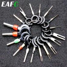 Ferramenta p/ remoção plug terminal automotivo, acessórios para extração de conector, engaste, fio elétrico, pino, chave, 18 peças
