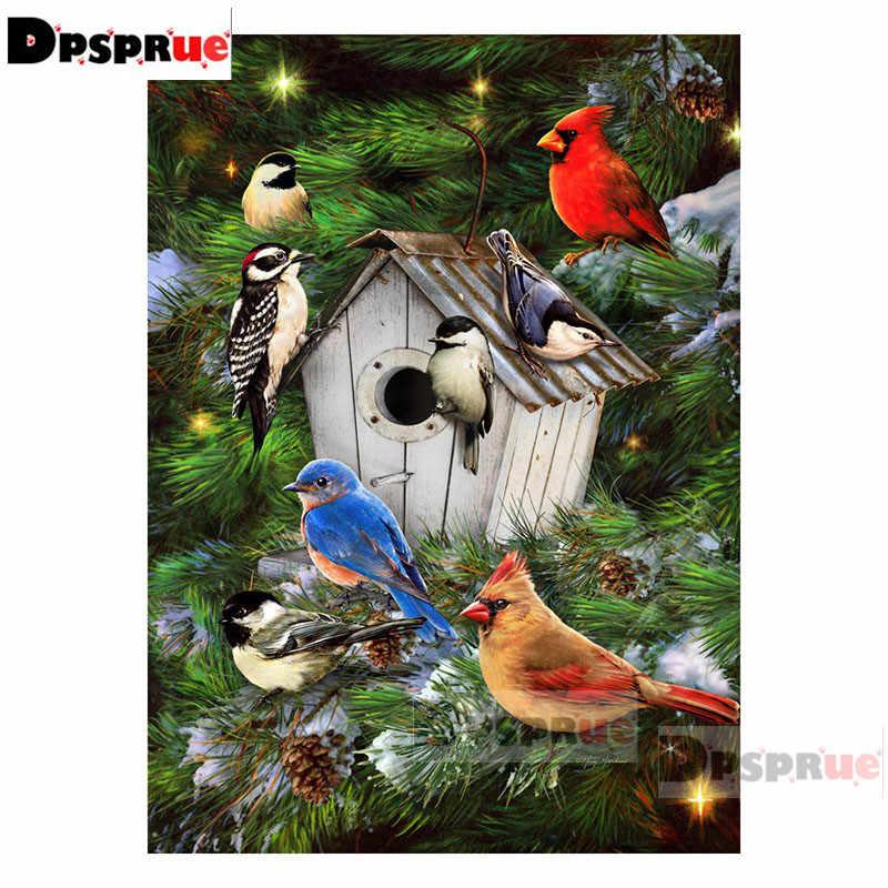 Dpsprue plein carré/rond diamant peinture point de croix Animal oiseau maison diamant 3D broderie bricolage 5D Moasic cadeau DP110
