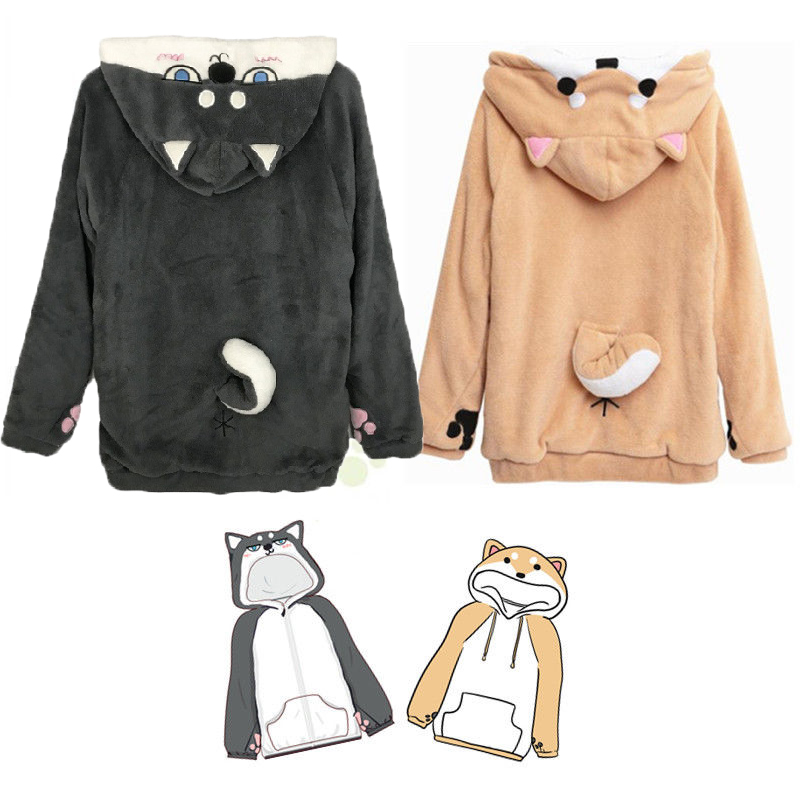 Warm Winter Thickened Shiba Inu Cat Husky Earmuffs.