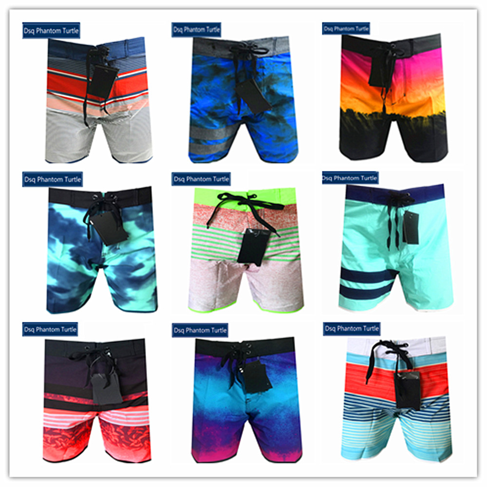 2020 Bermuda Brand Spandex Mens Hawaiian Shorts Dsq Phantom Turtle Beach Board Shorts Swimwear Elastic Male Swimtrunks Quick Dry