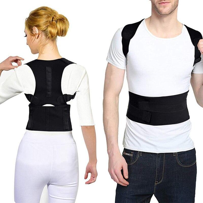 Postura corrector terapia magnética postura corrector cinta ajustável ombro para trás cinta suporte cinto sem slouching