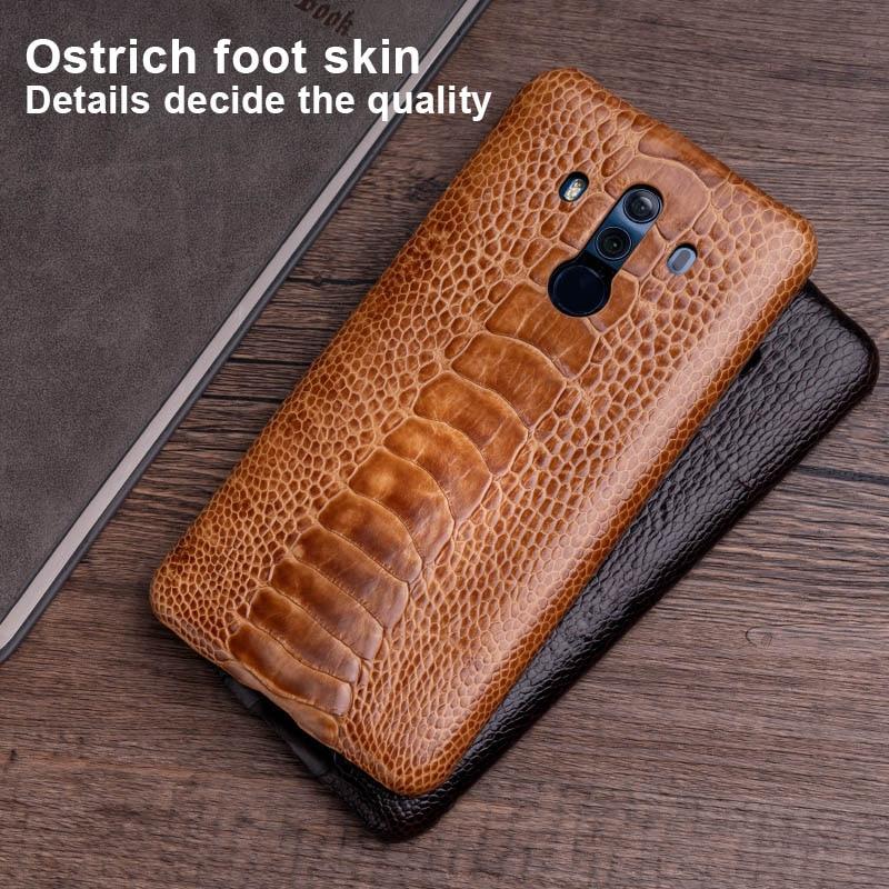 Чехол для телефона из страусиной кожи для huawei mate 20 10 9 Pro P10 P20 Lite, мягкий ТПУ чехол для Honor 8X Max 9 10 Nova 3 3i Capa - 5
