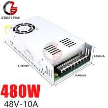 Fuente de alimentación conmutada de 48V, 10A, 480W, CA a CC, LED, adaptador de fuente de alimentación, fuente de alimentación LED, regulador de voltaje