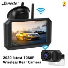 Jansite 5 cal Monitor samochodowy 1080P bezprzewodowa kamera cofania kamera cofania wspomaganie parkowania samochodu sygnał cyfrowy kolor