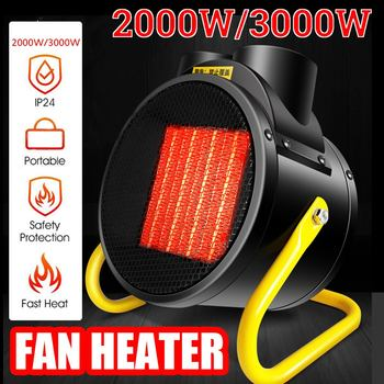 220V 3000W/2000W Newest Heater Portable Handy Durable Quality Mini Personal Ceramic Space Heater Electric Winter Warmer Fan