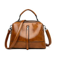 LONOOLISA High Quality Oil Wax Skin Ladies Hand Bags Luxury