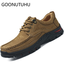 2019 new fashion men's shoes casual genuine leather male lace up and slip on loafers man shoe size 38-44 shoes for men hot sale цена