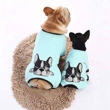 Комбинезон для собак с принтом питбуля, мягкая хлопковая одежда для собак, высокое качество, пижамы для собак, удобный костюм для щенков