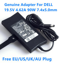 Натуральная 19,5 V 4.62A 90 Вт 7,4x5,0 мм DA90PE1-00 адаптер переменного тока питания для ноутбука Dell INSPIRON N5010 N5110 1150 XPS 14 15 D810 D820 D400 D410 Зарядное устройство