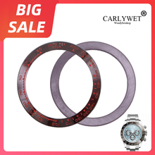 цена на CARLYWET Replacement High Quality Pure Ceramic Brown With Red Writings 38.6mm Watch Bezel for Rolex DAYTONA 116500 - 116520