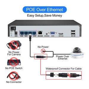 Image 3 - Techage 4CH 1080P 보안 POE NVR 카메라 시스템 2MP 오디오 사운드 IP 카메라 야외 IR 야간 감시 키트 CCTV 비디오
