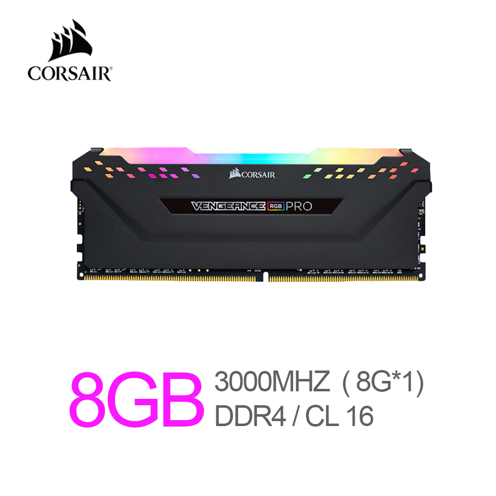 Corsair Vengeance RAM RGB Pro 8GB (1x8GB) DDR4 3000 (PC4-24000) C16 Desktop Memory-Black 1