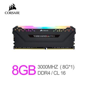 Corsair Vengeance RAM RGB Pro 8GB (1x8GB) DDR4 3000 (PC4-24000) C16 Desktop Memory-Black 1