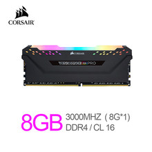Corsair Vengeance RAM RGB Pro 8GB (1x8GB) DDR4 3000 (PC4-24000) C16 Desktop Memory-Black
