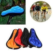 NEW 3D Soft Silicone Cycling Bicycle Bike Cover Saddle Mat Gel Soft Bicycle Seat Breathable Pad Bike Cushion Accessories Cu N8S9