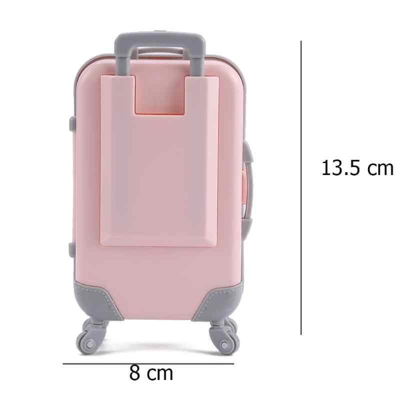 Mini Plastic Koffer Bagage Accessoires Doll Meubels 3D Reizen Trein Suitcas Kinderen Speelgoed Speelhuis Meisjes Pop Gift