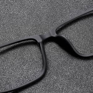 Image 5 - NALOAIN 근시안 안경 프레임 초경량 사각 처방 안경 티타늄 TR90 프레임 광학 안경 남성 여성을위한