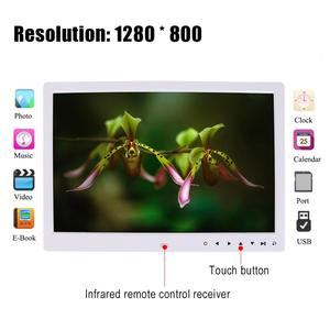 Image 4 - 15 inch HD Touch Screen Digital Photo Frame  MP3 MP4 Movie Player Alarm TFT LED Photo Digital MusicX  Home Decoration ABS