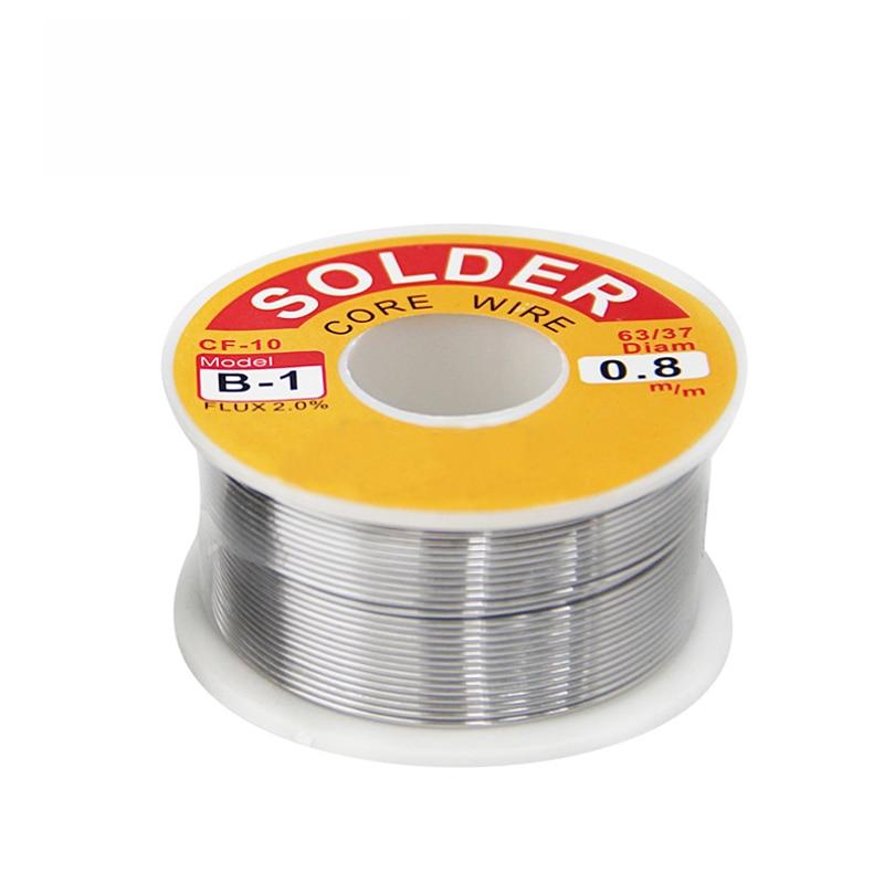 1PCS (B-1) Wire Reel 100g FLUX 2.0% 0.5 0.6 0.8 1.0 1.2 1.5 2.0mm 63/37 45FT Tin Lead Line Rosin Core Flux Solder