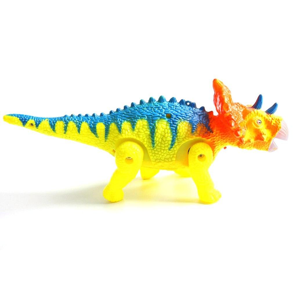 Electric Leash Triangular Tangential Belt Light Music Walk Doll Bracing Wire Dinosaur Model Children Toy