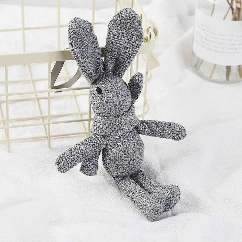Juguete de conejito de felpa de punto, juguete de peluche hecho a mano de 100%, juguete de peluche de Amigurumi para bebé recién nacido,