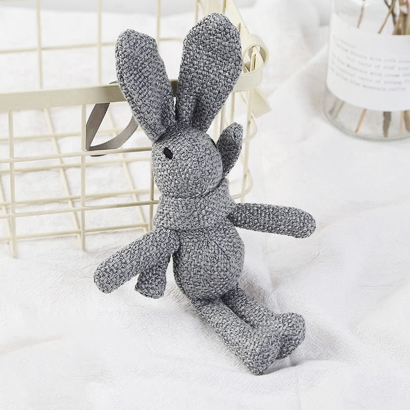 Knitted Stuffed Bunny Rabbit Plush Toy 100% Handmade Amigurumi Stuffed Toy Newborn Baby,