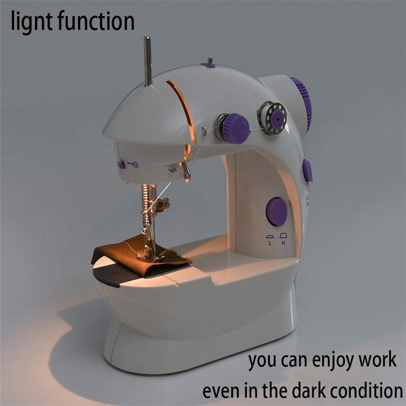 Máquina de coser para el hogar, mini máquina de costura de hilos dobles y un control perfecto de puntadas, doble velocidad y cortador de hilos, adecuada para proyectos pequeños
