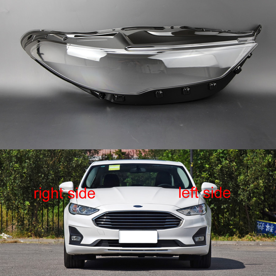 For Ford Mondeo 2017 2018 2019 Headlamps Transparent Cover Lampshades Lamp Shell Masks Headlights Cover Lens Headlight Glass