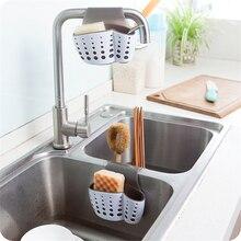 Double-side Sink Organizer Holder Portable Kitchen Sponges Strain Dry Hanger Scrubbers Soap Rack For Kitchen Sundries Organizer