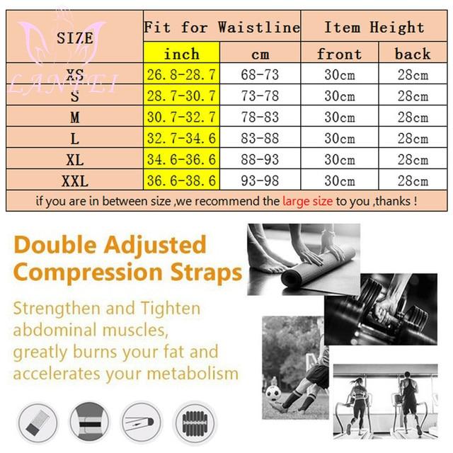 LANFEI Hot Neoprene Body Shaper Waist Trainer Belt Sauna Slimming Tummy Control Strap Men Sport Fitness Sweat Corset Fat Burner 3