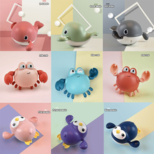 Clockwork Toy Bath-Toys Whale Baby Swim-Chain Crab Penguin Cute Infant Cartoon for Kid