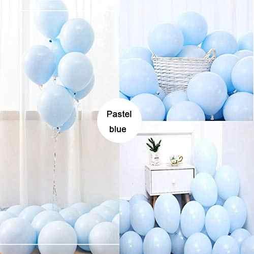 60Pcs Pesta Pastel Biru Balon Macaron Permen Berwarna Lateks Balon untuk Ulang Tahun Pertunangan Pernikahan Ulang Tahun Natal