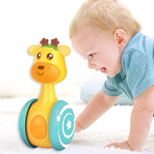 Learn Climb Tumbler Bell Doll Rattles Roly-Poly-Toy Music-Ring Sliding Giraffe Baby Infant