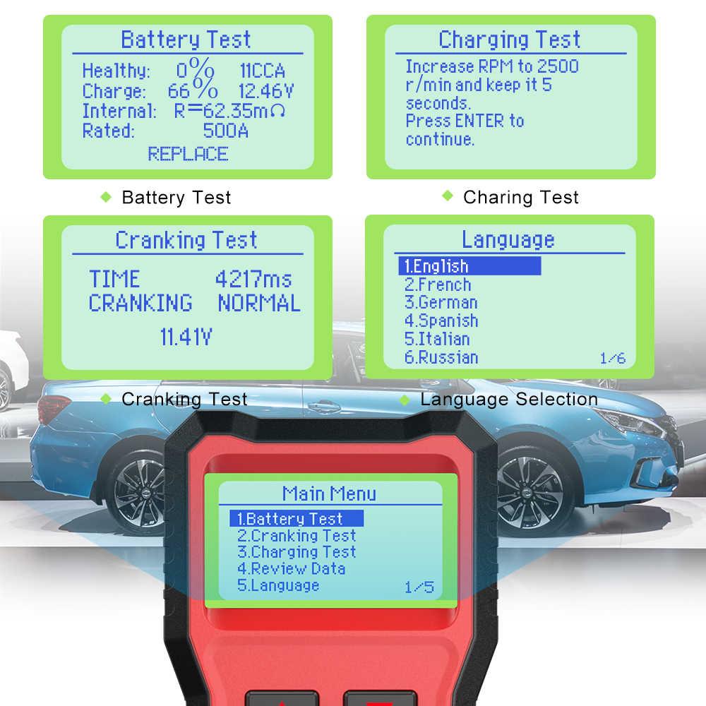 ANCEL BST100 12V Tester akumulatora samochodowego rozruchu ładowania Test analizator 2000CCA 30-220Ah Auto Circut Tester obciążenia narzędzie diagnostyczne do samochodów