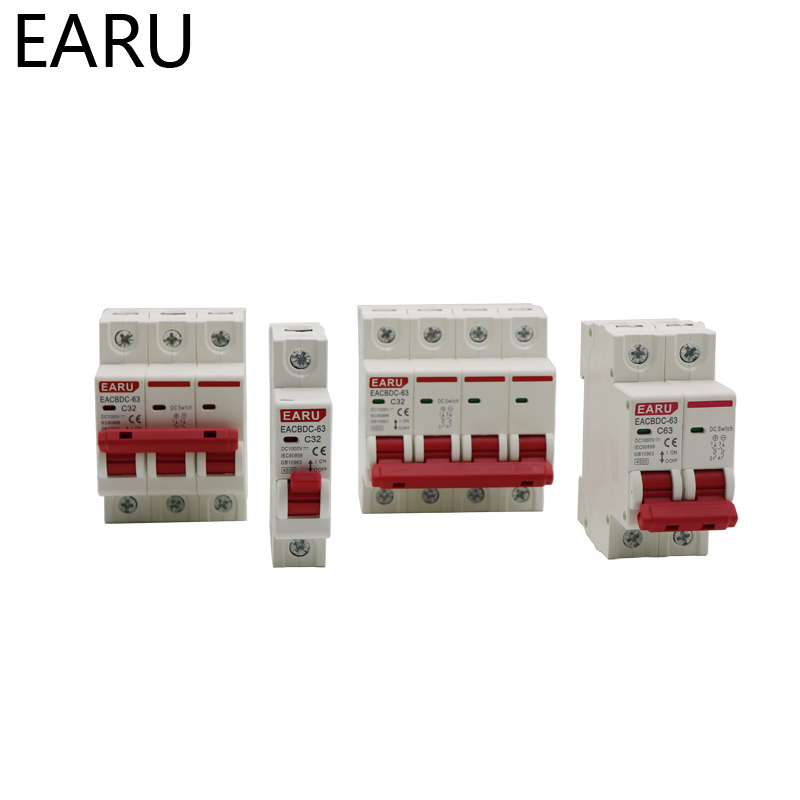 Hb9e5b5c229804ff88ed068b95476080f3 - DC 1000V 1P 2P 3P 4PSolar Mini Circuit Breaker Overload Protection Switch 6A 10A 16A 20A 25A 32A 40A 50A 63A Photovoltaic MCB PV