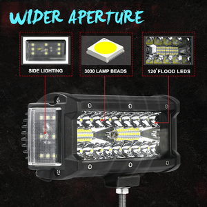 Image 2 - NLpearl Light Bar/światło robocze 4/7 cala 108W 168W LED światło robocze Bar Side Luminous listwa świetlna Led dla Jeep Truck Offroad ATV 12V 24V