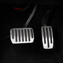 vxvb For Tesla Model 3 Y 2021 Accessories Model 3 Aluminum Alloy Accelerator Brake Rest Pedal Car Foot Pedal Pads Covers Three