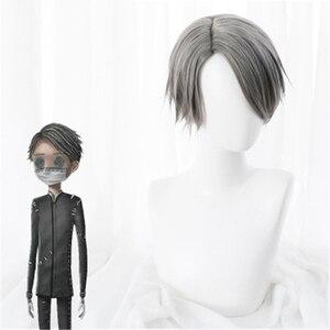 Image 2 - משחק זהות V פאת קוספליי Embalmer איזופוס קרל תפקיד לשחק פאות סינטטי שיער ליל כל הקדושים מפלגה ביצועים תלבושות פאה + כובע פאה