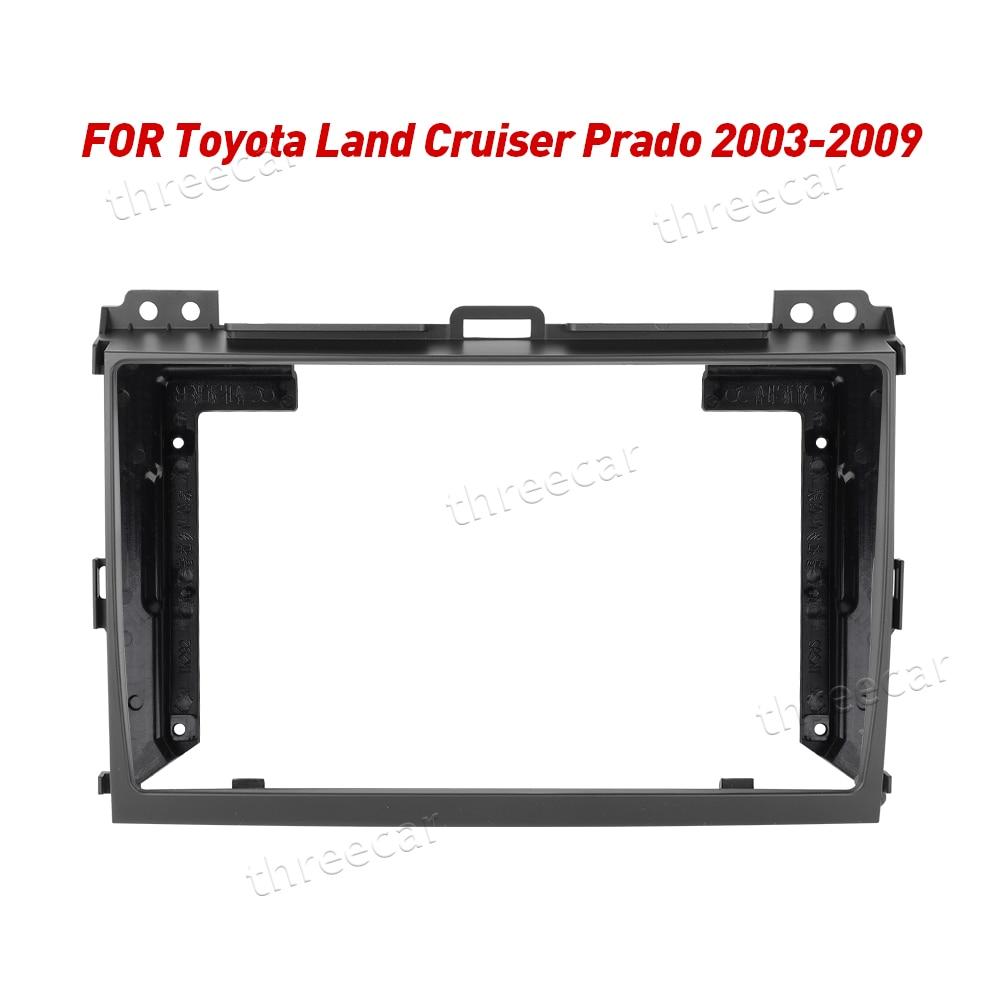 2Din Car Radio Fascia Frame Fit for Toyota LAND CRUISER Prado 120 2003-2009 Android GPS Panel Dash Frame Kit Mounting Frame(China)