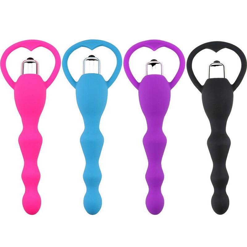 Anal vibratör seks oyuncakları Anal boncuk titreşimli eşcinsel oyuncaklar prostat masaj pürüzsüz popo silikon fiş yetişkin seks ürünleri