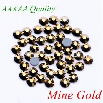 Высокое качество! Золотые стразы с горячей фиксацией, SS6 SS10 SS16 SS20 SS30 с плоской задней поверхностью, алмазные стразы кристаллы с клеем
