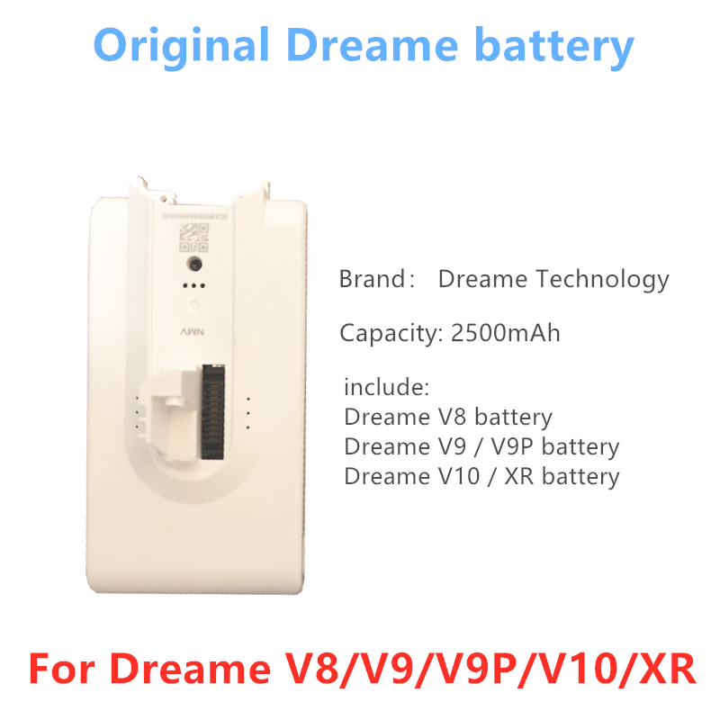 [Original] Dreame Battery Additional Replaceable Battery Backup For  Dreame V10 Dreame V9 V9P Dreame V8 Dreame XR
