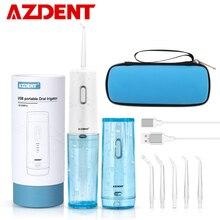 Smart Tragbare Dental Flosser + Reise Fall Cordless Munddusche USB Lade Wasser Jet Floss Zahn Pick 4 Modi 210ML 5 Tipps