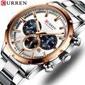 Мужские s часы лучший бренд CURREN новые роскошные модные бизнес Кварцевые часы мужские водонепроницаемые спортивные часы Relogio Masculino