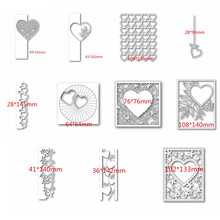 Heart-shaped lace frames Metal Cutting Dies Scrapbooking Stencil DIY Paper Card Decorative Embossing Die Cut Craft Dies 2020 NEW(China)