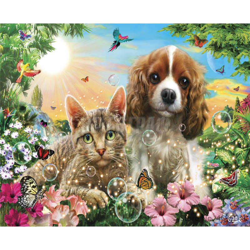 Painting By Numbers Frameworks Coloring By Numbers Home Decor Pictures Animal Dog Decorations RSB8334
