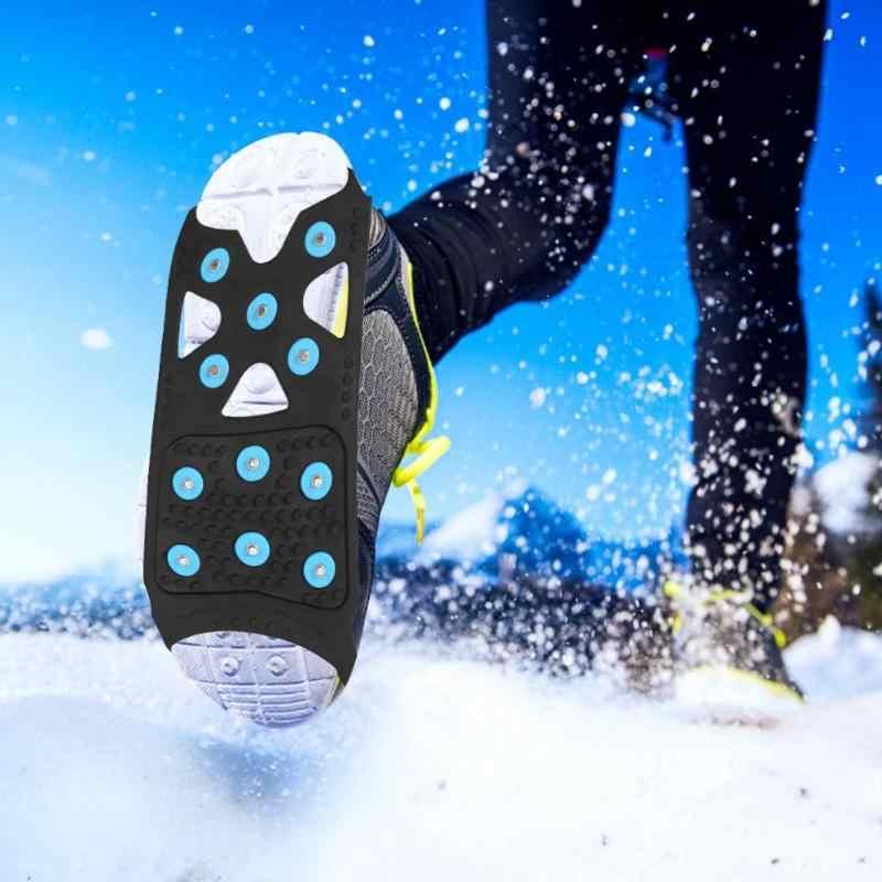 11 заклепок, скобы, шипы, противоскользящие, прогулочные, цепляющиеся шипы, уличные сапоги, сапоги со льдом, захваты для снега, противоскользящие, обувь, чехлы