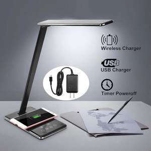 Pad Desk-Lamp Book-Light Light-Dimming Cell-Phone-Charging-Holder-Stand Foldable Wireless-Charger